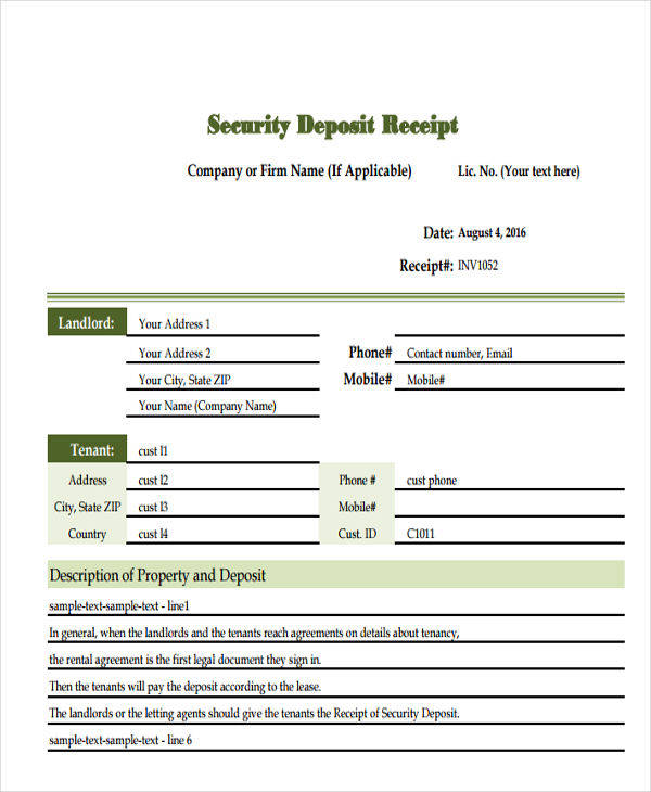 It is also a document showing that one has paid money for what they are buying. Free 8 Deposit Invoice Templates In Pdf Ms Word