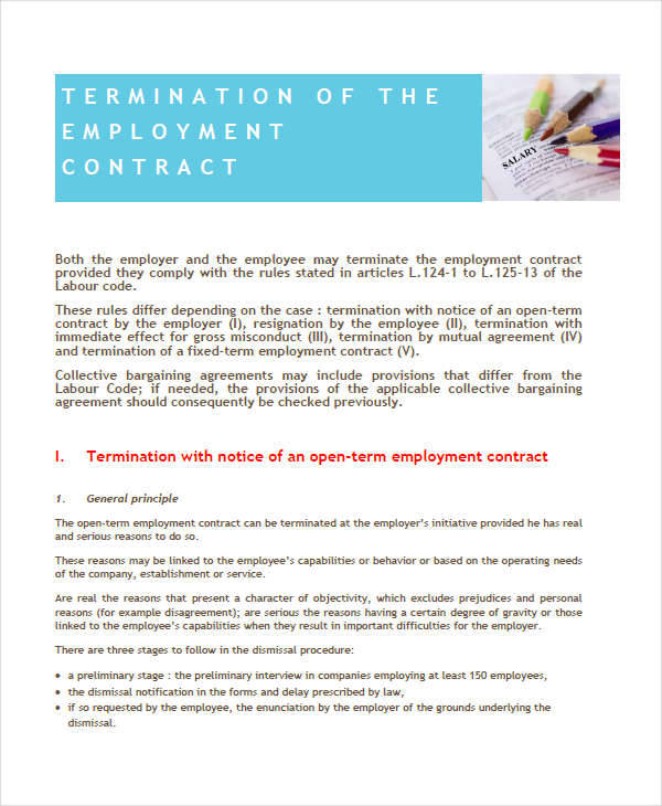 How to Terminate Contracts in the Workplace