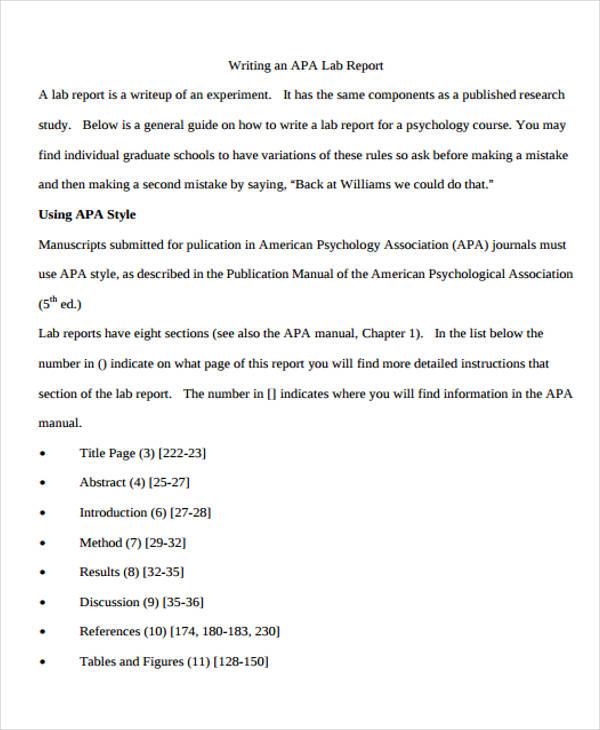 Lab Report Apa Format Hizli Rapidlaunch Co