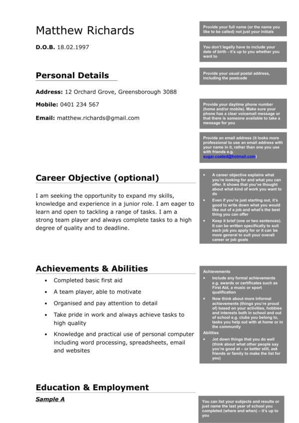 What To Include In A Resume If You Lack Experience
