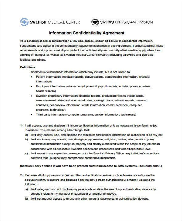 Vendor Confidentiality Agreement Vendor Confidentiality