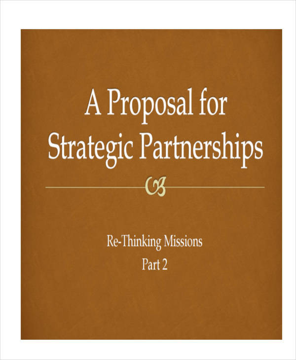 7 Partnership Proposal Templates – Examples In Word PDF