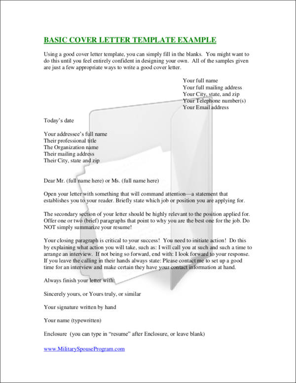 how to format a cover letter with no name