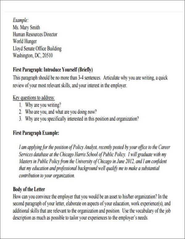 introduction letters for jobs