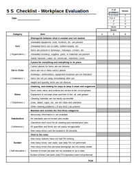 √ 5s Cleaning Checklist Related Keywords