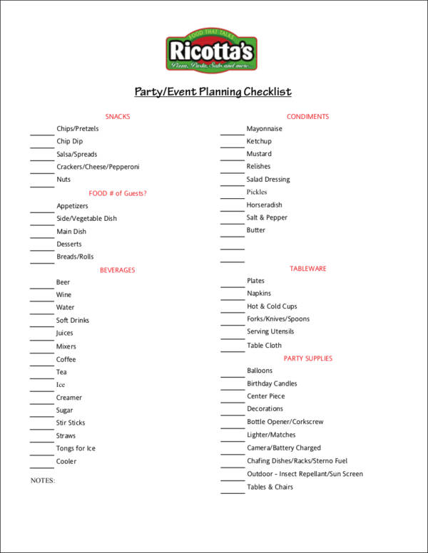 13+ Event Planning Checklist Ideas Samples & Templates in