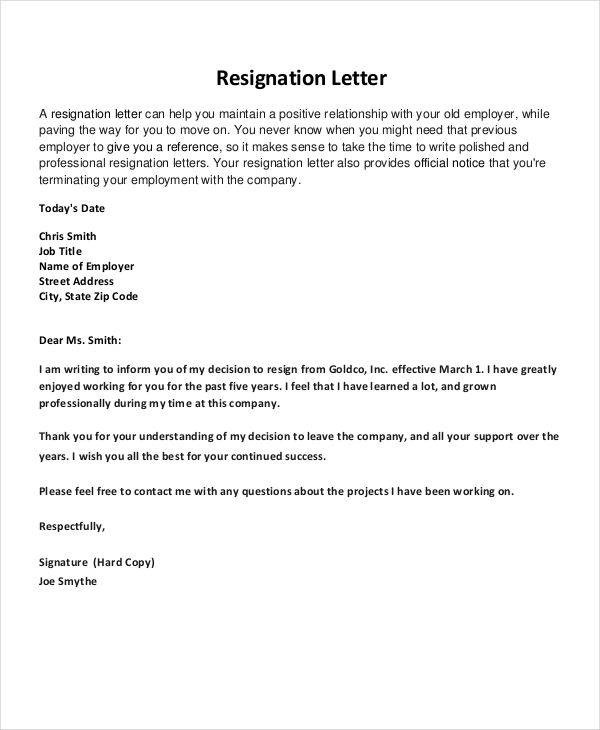 10 ThankYou Resignation Letters and Pointers for Writing It