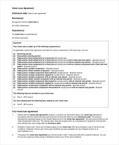 9+ Loan Contract Samples & Templates - Free PDF Format ...