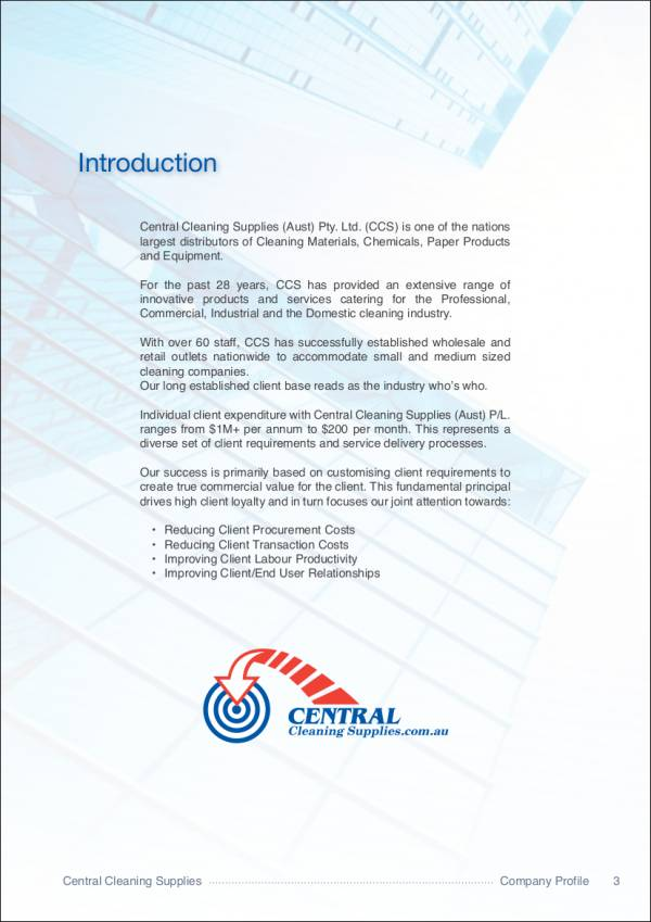 cleaning services company profile pdf