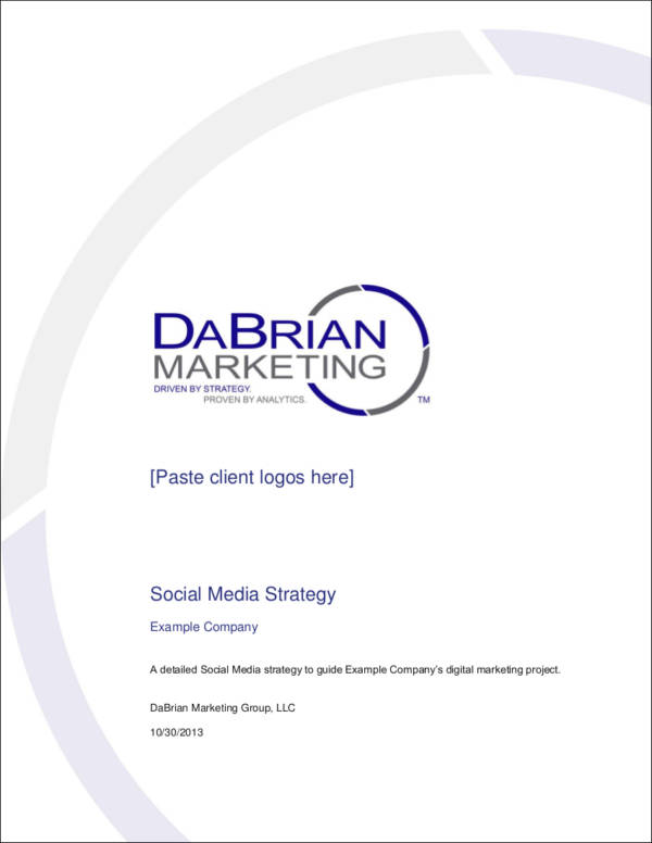 FREE 5+ Social Media Strategy Samples & Templates in Word