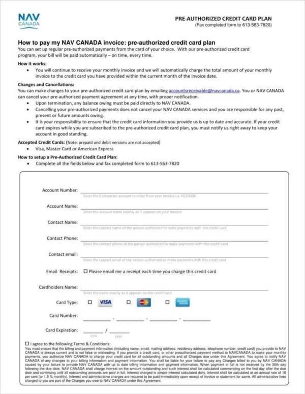 7 Credit Card Receipt Templates PDF Sample Templates