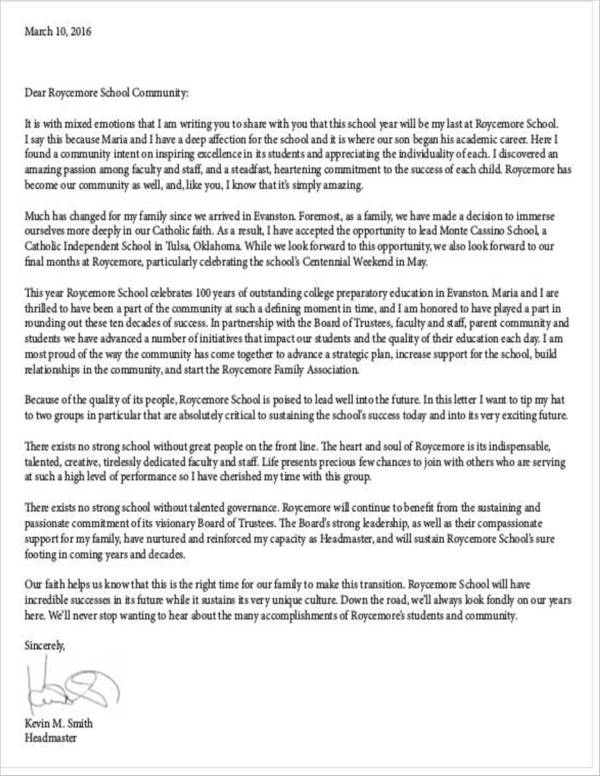 11 Teacher Resignation Letter Samples and Templates  PDF Word