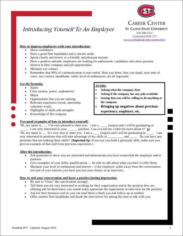 5 Employment Introduction Letter Samples And Templates PDF Word