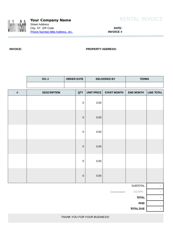 FREE 10 Rental Billing Statement Templates In PDF Word Excel