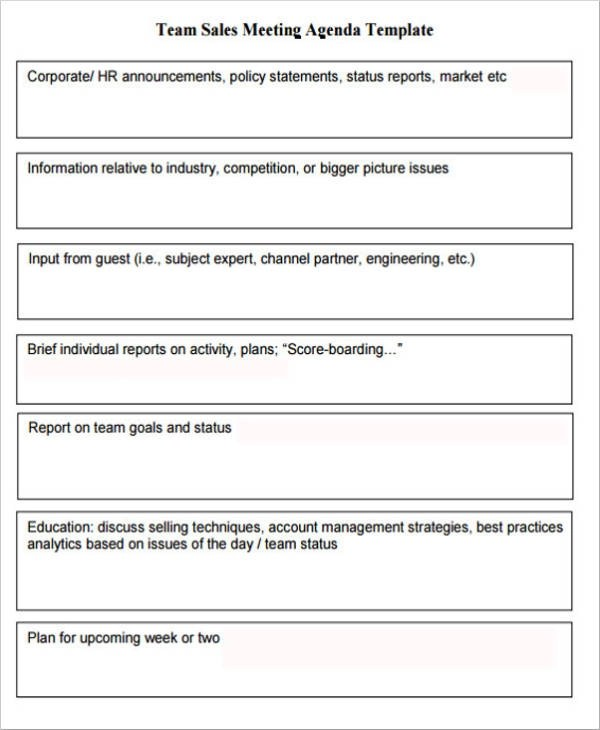 How to start a sales meeting. Free 23 Meeting Agenda Samples And Templates In Pdf Ms Word