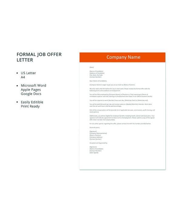 16+ Sample Job Offer Letters