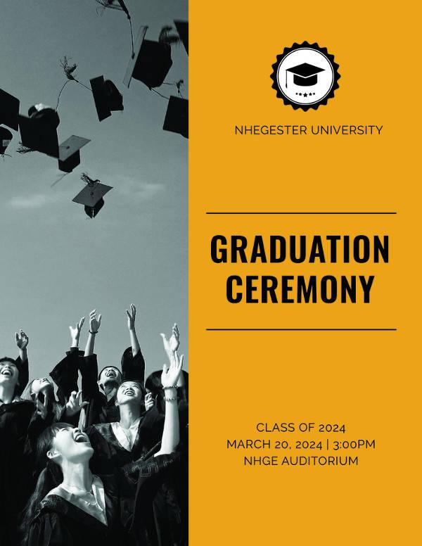 7 graduation program templates