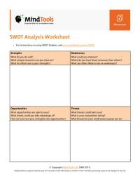 11+ Student SWOT Analysis Template  PDF, Word   Sample ...