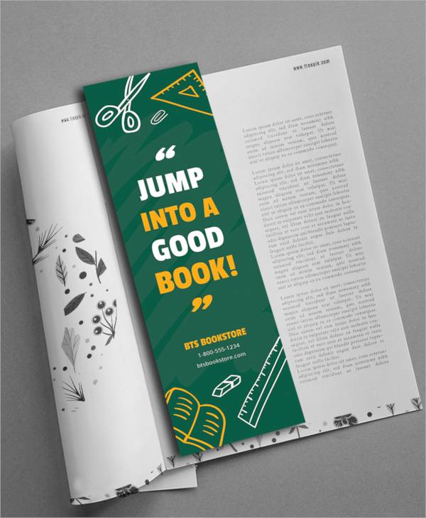 bookmark template 17 download