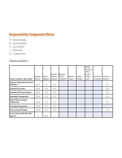FREE 10+ Responsibility Assignment Matrix Samples in PDF