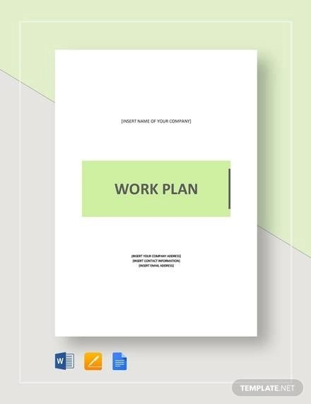 A work plan is made according to the company or the project's necessity. Free 43 Work Plan Templates In Pdf