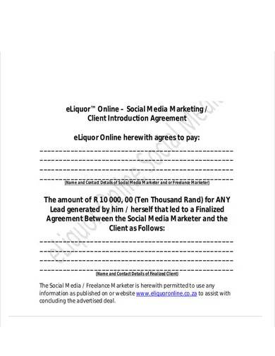 FREE 10+ Social Media Marketing Agreement Samples in MS Word   Pages   Google Docs   PDF