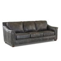 Klaussner Waldon Leather Down Blend Sofa, Gray - Sam's Club