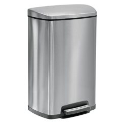 13 Gallon Kitchen Trash Can Round Pedestal Table Tramontina Step Rectangular Waste Bin With Freshener System