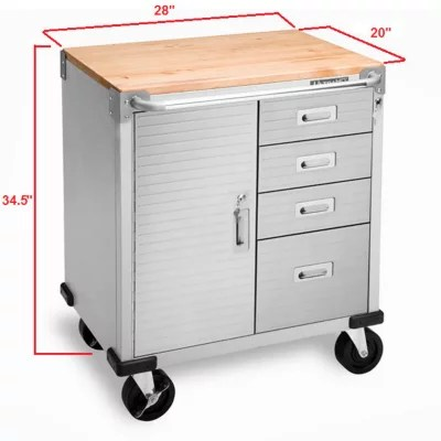 Seville Classics UltraHD 4Drawer Rolling Cabinet  Sams Club