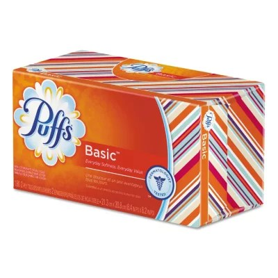 Puffs White Facial Tissue 1Ply 180 sheets 24 ct