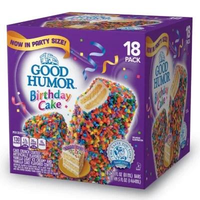 Good Humor Birthday Cake Ice Cream Bars 495 Oz 18 Ct Sams Club