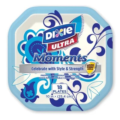 Dixie Ultra Moments 10quot Paper Plates 18 ct 6pk Sam