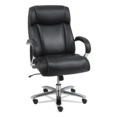 Leather Chair Office Black Covers With Silver Sash Chairs Sam S Club Big Tall