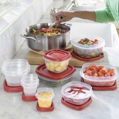 Rubbermaid Kitchen Storage Containers How To Adjust Cupboard Hinges 50 Piece Easy Find Lids Food Set Sam S Club