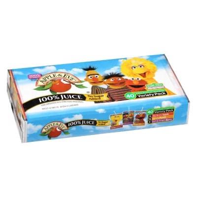 Apple Eve Sesame Street 100 Juice Variety Pack 423