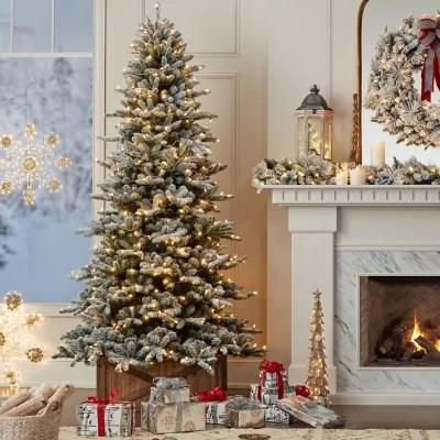 Members Mark 9 Aspen Flocked Christmas Tree Sams Club