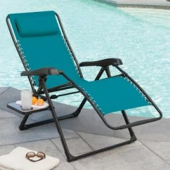 Xl Zero Gravity Chair With Canopy Sliding Pillow Folding Side Table Blue Velvet Tufted Anti Wave Sam S Club