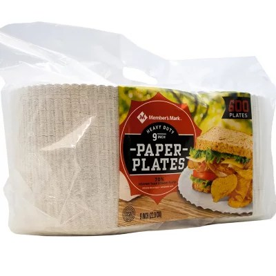 Member39s Mark HeavyDuty Paper Plates 9quot 600 ct Sam