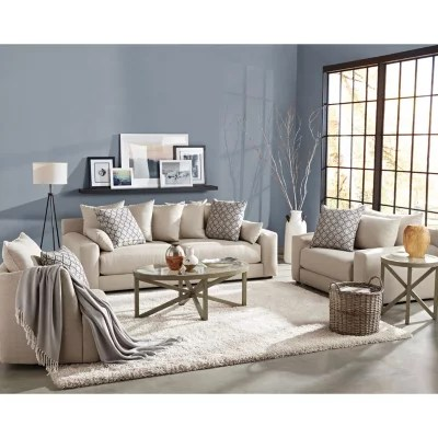 swivel chair in living room steel big w member s mark 3 piece set gable sofa and a half