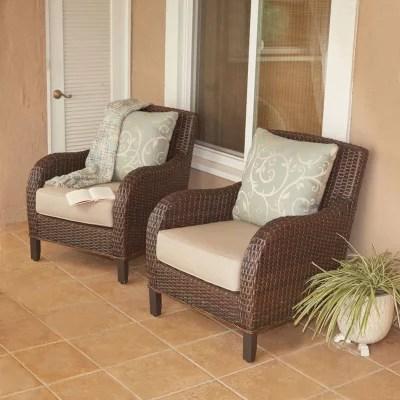 patio club chair hammock stand craigslist member s mark wicker chairs set of 2 sam