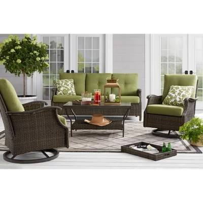 Member S Mark Agio Stockton 4 Piece Patio Deep Seating Set