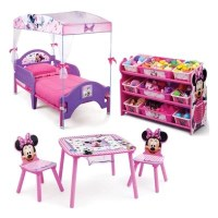 Delta Children Minnie Mouse 3-Piece Toddler Canopy Bedroom ...