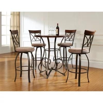 table with swivel chairs mesh office chair headrest hamilton pub bar stools 5 piece set sam s club