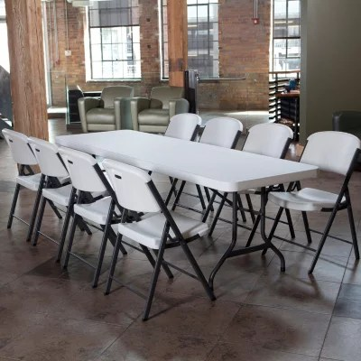 lifetime chairs and tables arm combo 8 table folding white sam s club