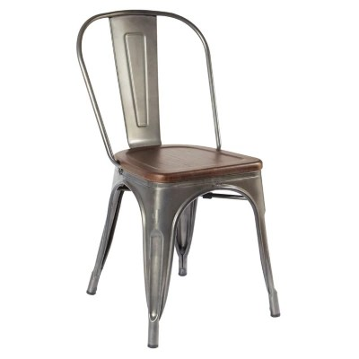 sams club chairs metal stacking ave six astoria armless chair gunmetal frame with vintage ash seat choose a