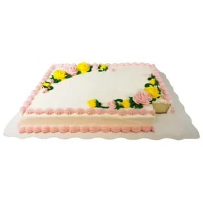 Member S Mark Full Sheet Marble Cake With White Whipped