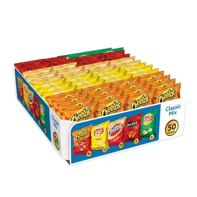 Frito Lay Classic Mix Chips And Snacks Variety Pack 50 Ct