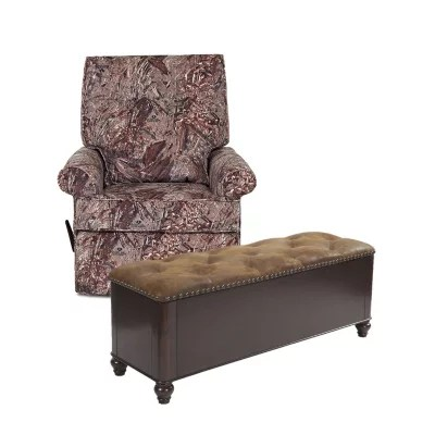 camo recliner chair pro beach low slung folding rocking and 6 gun concealment bench bundle you re in