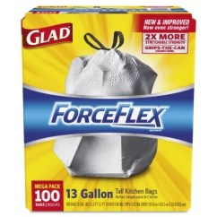 Tall Kitchen Bags Best Drop In Sinks Glad Forceflex Drawstring Trash 13 Gallon 100 Ct