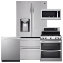 Lg Kitchen Suite Island Counter 4 Piece Lmxs28626s Ldg4313st Lmhm2237st Ldt5665st Stainless